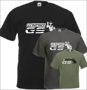 Image 1 - T Shirt manches courtes col rond homme, en coton, pour Fans de motocyclette, R 1250 Gs, imprimé, tendance 2019
