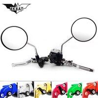 Motorcycle brake pump Clutch Lever Rear mirror for honda vtx 1300 suzuki rm ktm 125 sx suzuki ltr 450 yamaha jog cafe racer bmw