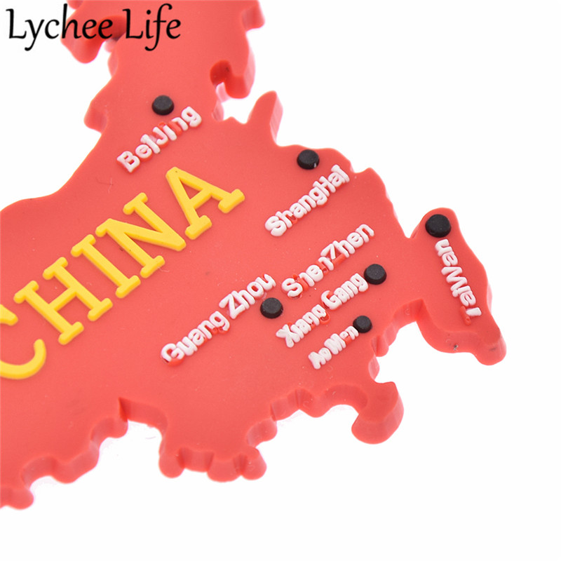China Flag Map Refrigerator Magnetic Sticker Chinese Style Fridge Magnet Souvenir Gifts Modern Home Kitchen Decor in Fridge Magnets from Home Garden