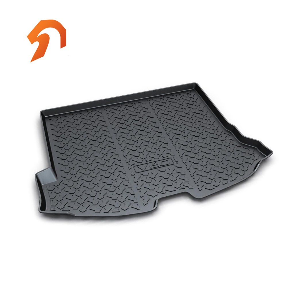 Rubber Rear Trunk Cover Cargo Liner Trunk Tray Floor Mats For Volvo V60 2013 2014 2015 Car Floor Trunk Carpet Liner Mats car rear trunk security shield cargo cover for honda fit jazz 2008 09 10 11 2012 2013 high qualit black beige auto accessories