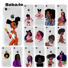 Babaite Afro Black Girl Magic Melanin Poppin TPU Soft Phone Cell Case for iPhone 7 7plus 6S 6plus 8 8Plus X Xs MAX 5 5S XR