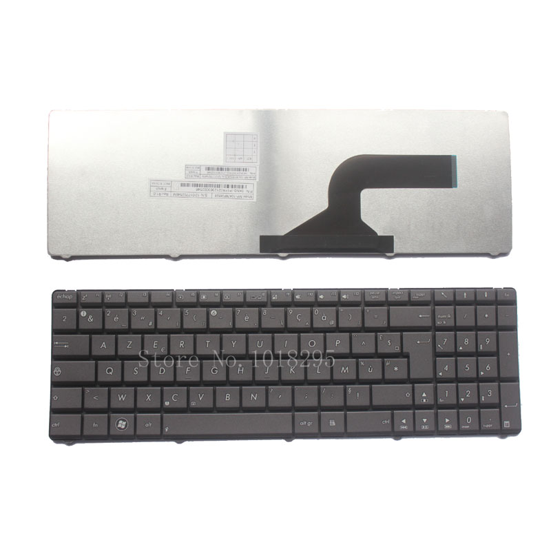 French laptop <font><b>Keyboard</b></font> for <font><b>Asus</b></font> N53 X53 X54H A52J k53 A53 N60 N61 N71 N73S N73J P52 P52F P53S X53S <font><b>X55V</b></font> X54HR X54HY N53T FR NEW image