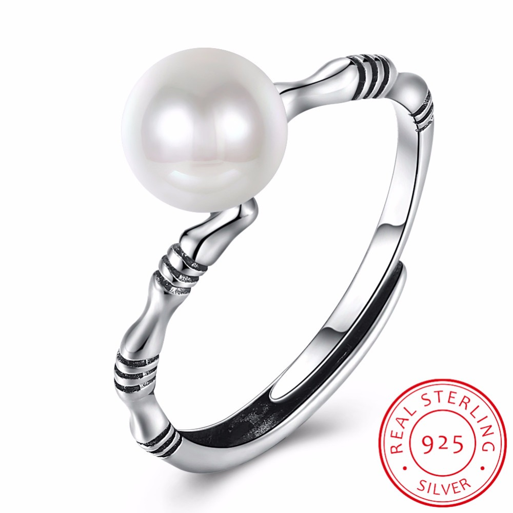 925 Antique Silver Ring for Women and Men Adjustable Size Bone Bamboo Rings Open Bypass Cuff Ring Vintage 2017 LR0299