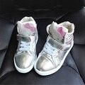 2016 Zapatos de Primavera Niñas Rhinestone Hello Kitty Zapatillas Moda Casual Zapatos de Los Niños Niñas Deporte Zapatos Para Correr