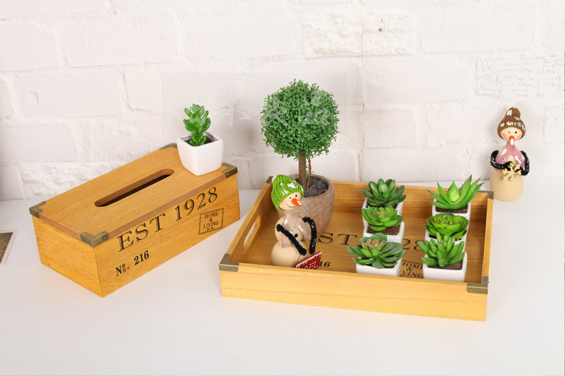 Keuken Opbergen Organizers : Hout opbergrek box organizer hout opbergvak houten bloempotten