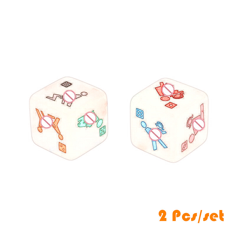 2pcs 25mm Noctilucent Dice Cube Adult Game Love Sex Dice Night Bar KTV Fun Game Table Board Games Accessories image
