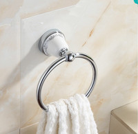 Bathroom Accessories,Modern Chrome Finish Towel Ring Holder&Towel Bar /Stainless Steel Creative ceramics Design,Free Shipping
