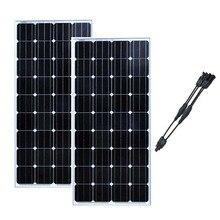 Panneau Solaire 300watts 24 Volt Panel Solar 12v 150W Monocrystalline Battery Charge China Boten En Jachten Caravana Camp