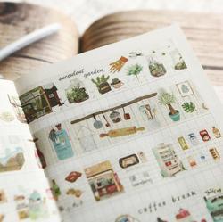 Frischen Kunst Lebensmittel Und Leben Washi Klebeband Klebeband DIY Scrapbooking Aufkleber Label Masking Fertigkeit Band