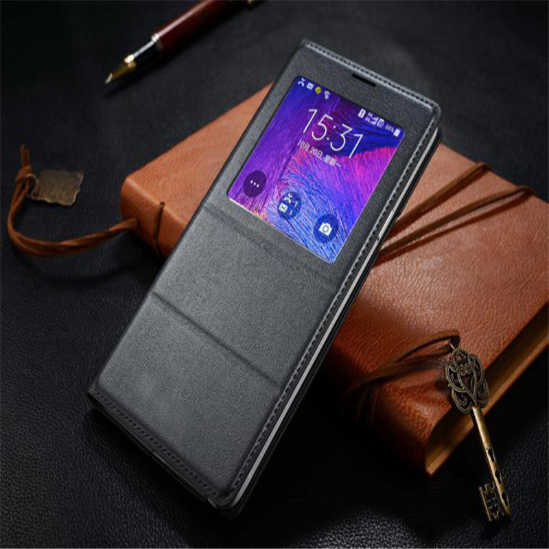Albb Flip Cover Leather Case for Samsung Galaxy Note 4 Note4 N910 N910F N910H Phone Case Cover Smart View with Original ChipAlbb Flip Cover Leather Case for Samsung Galaxy Note 4 Note4 N910 N910F N910H Phone Case Cover Smart View with Original Chip