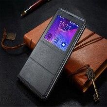 Albb флип-чехол кожаный чехол для Samsung Galaxy Note 4 note4 N910 n910f N910H чехол для телефона чехол Smart View с оригинальный чип