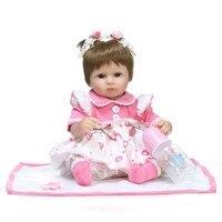 NPK 18 дюймов возрождается куклы детские игрушки милой принцессы поделки куклы девушка Brinquedos подарки ребенок сопровождать игрушки Просвещен