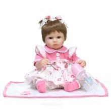 NPK 18inch Reborn Dolls Kid s Toys Cute Princess DIY Dolls Girl Brinquedos Gifts Baby Accompany