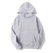 2018 New Casual pink black gray blue HOODIE Hip Hop Street wear Sweatshirts Skateboard Men/Woman Pullover Hoodies Male Hoodie