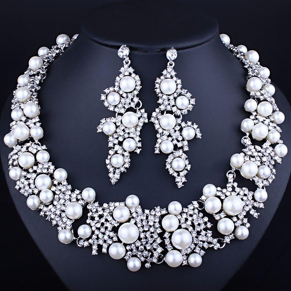 Luxe Cristal Chat Boucles D/'oreilles Pour Femmes Lady Belle Mariage Collier Bijoux Set