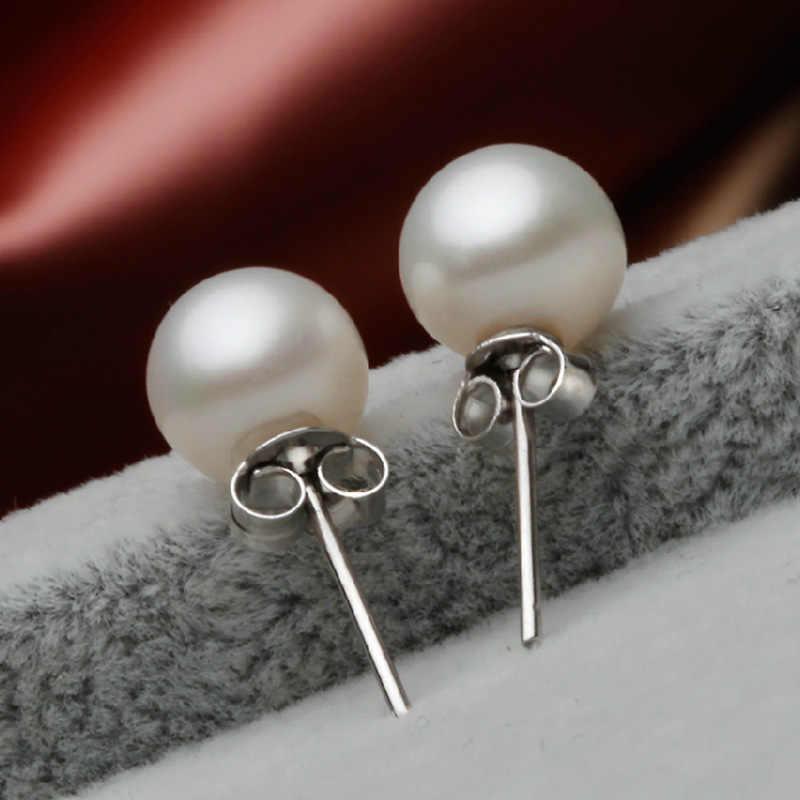 ZRHUA AAAA Hohe Qualität Perle Ohrringe Klassische Hochzeit Schmuck Trendy 925 Silber Stud Ohrring für Frauen Party Weihnachten Geschenke