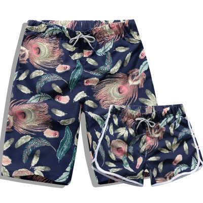 Couple Swimsuit Shorts Clothing Sport-Pants Polyester Beach Surf Summer Men Quick-Dry