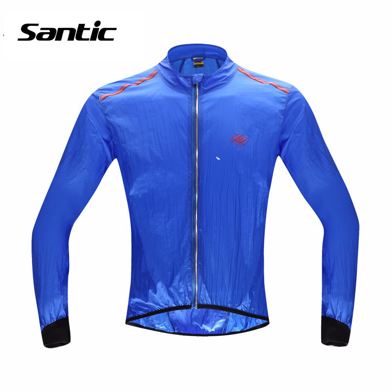 Santic Cycling Jersey Clothing MTB Bike Cycling Windproof & Waterproof Jersey Sportswear Wind Coat Long Sleeve Bicycle Jersey roswheel mtb bike bag 10l full waterproof bicycle saddle bag mountain bike rear seat bag cycling tail bag bicycle accessories