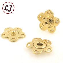 New arrived 10pcs/lot 20mm star gold Metal Snap Fasteners Press Button for suit jacket clasp overcoat sweater mink coat(China)
