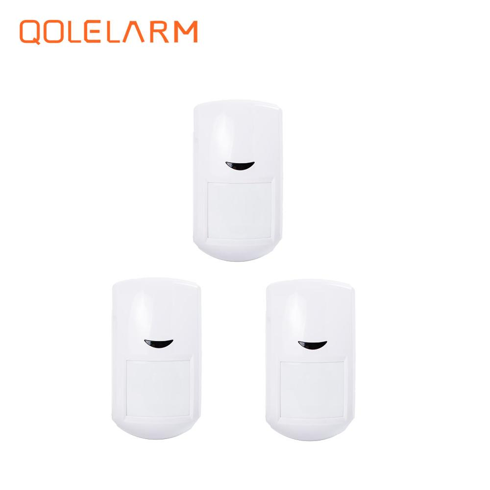 3pcs 433 MHz Wireless intelligent PIR infrared sensor detector with built-in antenna for alarm system ...