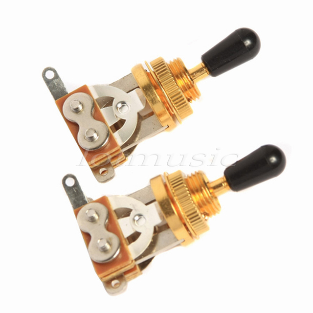 2Pcs Gold 3Way Toggle Switch for Electric Guitar Replacement Parts