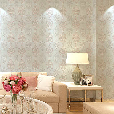 aliexpresscom buy textured damask wallpaper pink white silk wall paper for girls bedroom shimmer glitter wallpaper roll from reliable silk wall paper - Contemporary Damask Wallpaper