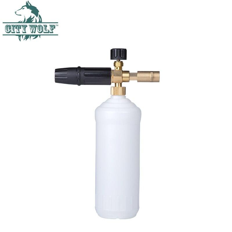 City Wolf car washer foam cannon brass snow foam lance deck foam soap bottle for Karcher high pressure washer