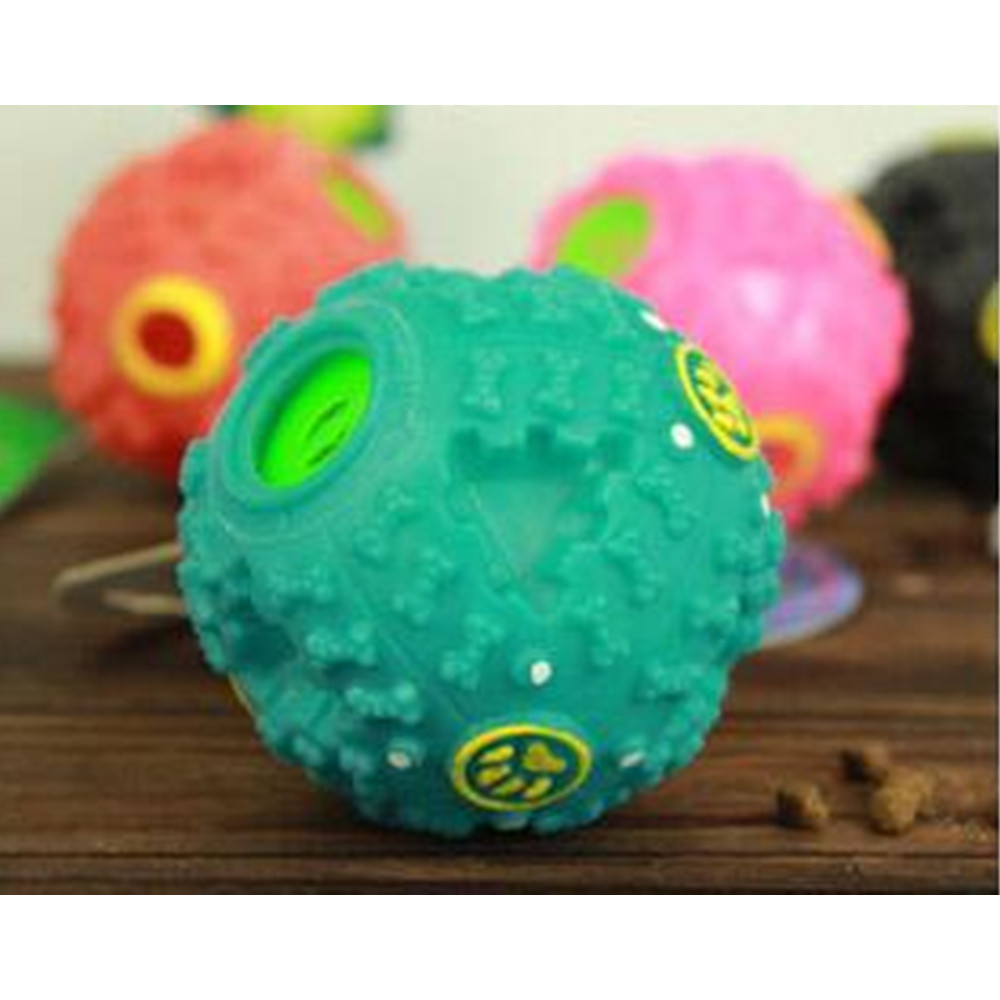 Puppy Chew Food Ball Rubber Non-toxic Small Dog Sound Toy 2018 New Arrival Pets Interact ...