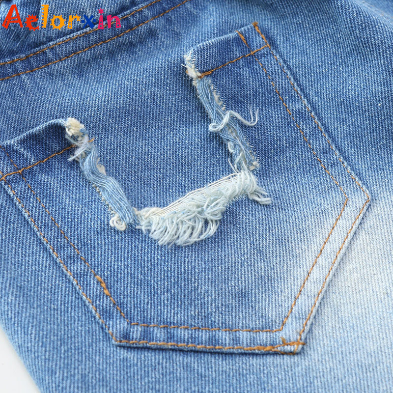 Girls Denim Pants Summer Children Jeans Pants Leggings Baby Patchwork - Children's Clothing - Photo 5