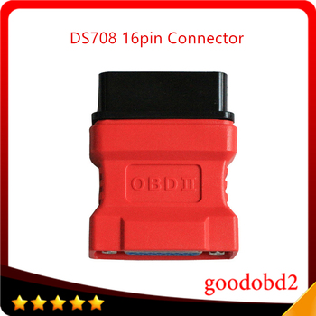 For Autel Maxidas DS708 OBDII Connector For Diagnosis Tools DS708 Scanner 16pin OBD-II Adaptor Autel OBD2 Adapter Connector autel maxisys elite car diagnosis j2534 ecu programing tool faster than ms908p 908 pro free update 2 years on autel website