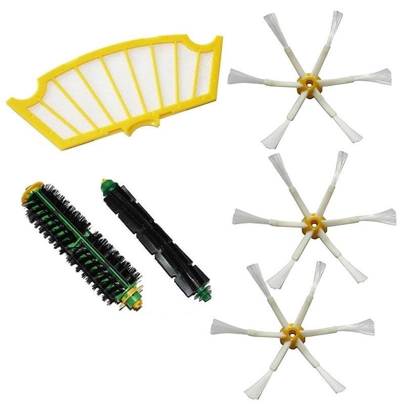Accessory Brush for Irobot Roomba 500 Series 500 527 528 530 532 535 540 555 560 562 570 572 580 581 590 Vacuum Cleaner Parts bristle brush flexible beater brush fit for irobot roomba 500 600 700 series 550 650 660 760 770 780 790 vacuum cleaner parts