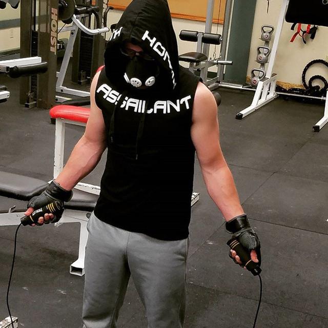 Men's Cotton Hoodie Sportswear Bodybuilding Tank Top