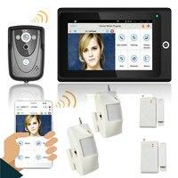 7 wifi Беспроводной телефон видео домофон Дверные звонки IP Камера ПИР ИК Ночное видение сигнализации дома Системы мобильное приложение Remote м