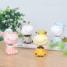 Modern Cartoon Animal Ornaments Craft Resin Figurines Micro Landscape Bonsai Flowerpot Home Office Decoration Garden Supplies