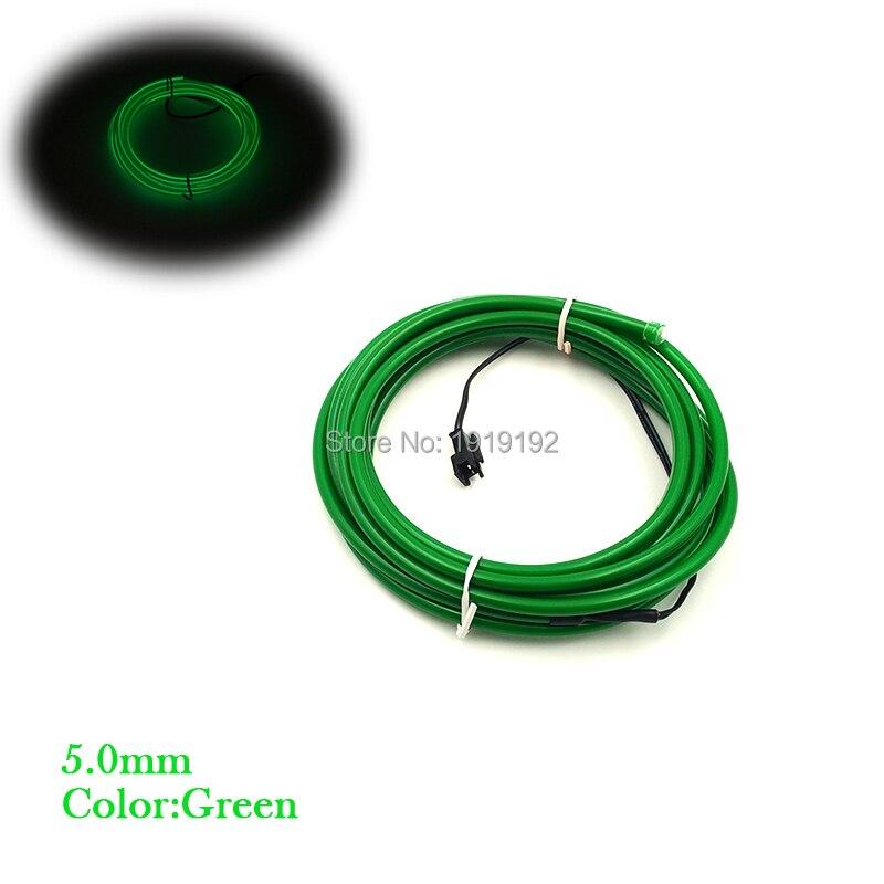 Décoration de fête 15 mètres 5 VUSB pilote Flexible néon lumière lueur 5.0mm EL câble ruban câble néon lumières fil électroluminescent