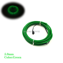 Party Decoration 15Meter 5VUSB driver Flexible Neon Light Glow 5.0mm EL Wire Rope tape Cable Neon Lights Electroluminescent Wire