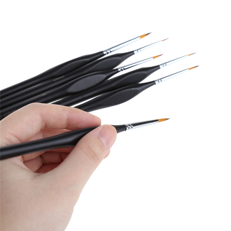 цена на 6 Pcs/Set Drawing Art Pen Paint Brush Fine Hand Painted Thin Hook Line Pen Art Supplies Nylon Brush Painting Pen Oil Painting