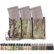 Emerson Tactical MOLLE Magazine 홀스터 고속 트리플 오픈 탑 5.56 라이플 매거진 파우치 Fast Draw MOLLE/PALS Holster