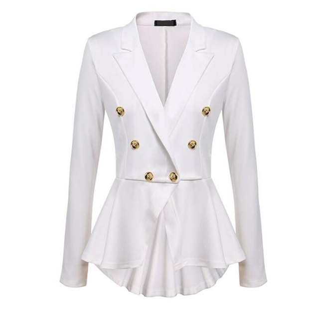 effen witte blazer vrouwen riem kleding office lange mouwen elegante