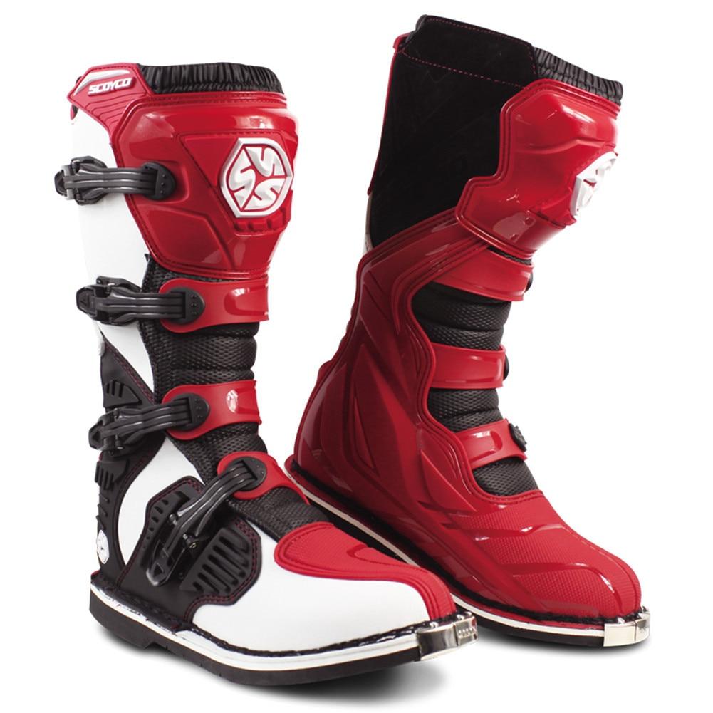 Scoyco Motorcycle Motocross Boots Rally Stivali Botas Moto Motosiklet Bot Mens Biker Shoes Motociclista Bottes S68230 Green