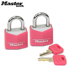 Master Lock small Mini Padlock Locker Lock Drawer Student Concentric  luggage case box Lovers Lock 4 Colors 2 Keys Wholesale small mini lock solid plastic case copper padlock travel tiny suitcase and lock with 2 keys have 8 colors home accessories