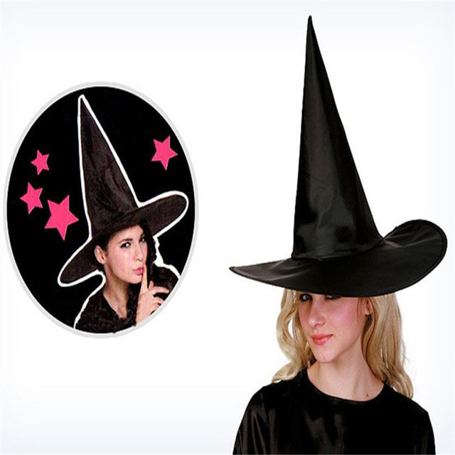 New Halloween Costumes 6Pcs Adult Womens Black Witch Hat For Halloween  Costume Accessory Cap cappello di Halloween Hot Salw 71540a34eff6