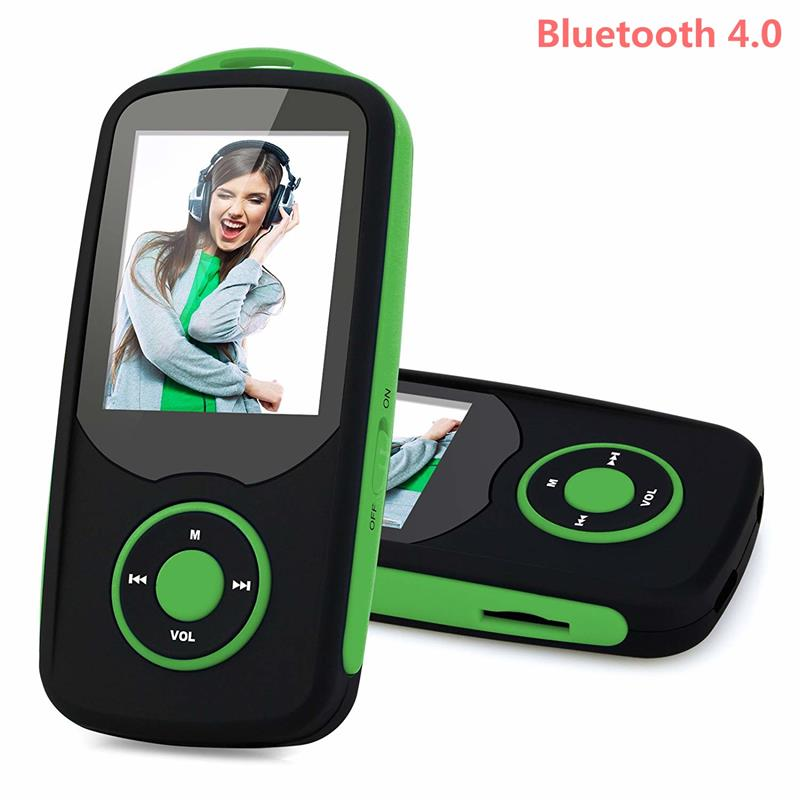 2018 New Arrival Bluetooth MP3 Music Player 8GB/16GB with 1.8 Inch Color Screen, FM Radio, Recorder, Supports SD Card Up to 64GB