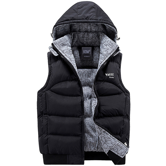 Jacket Men Sleeveless Veste homme Mens Winter Fashion Casual Coats ...