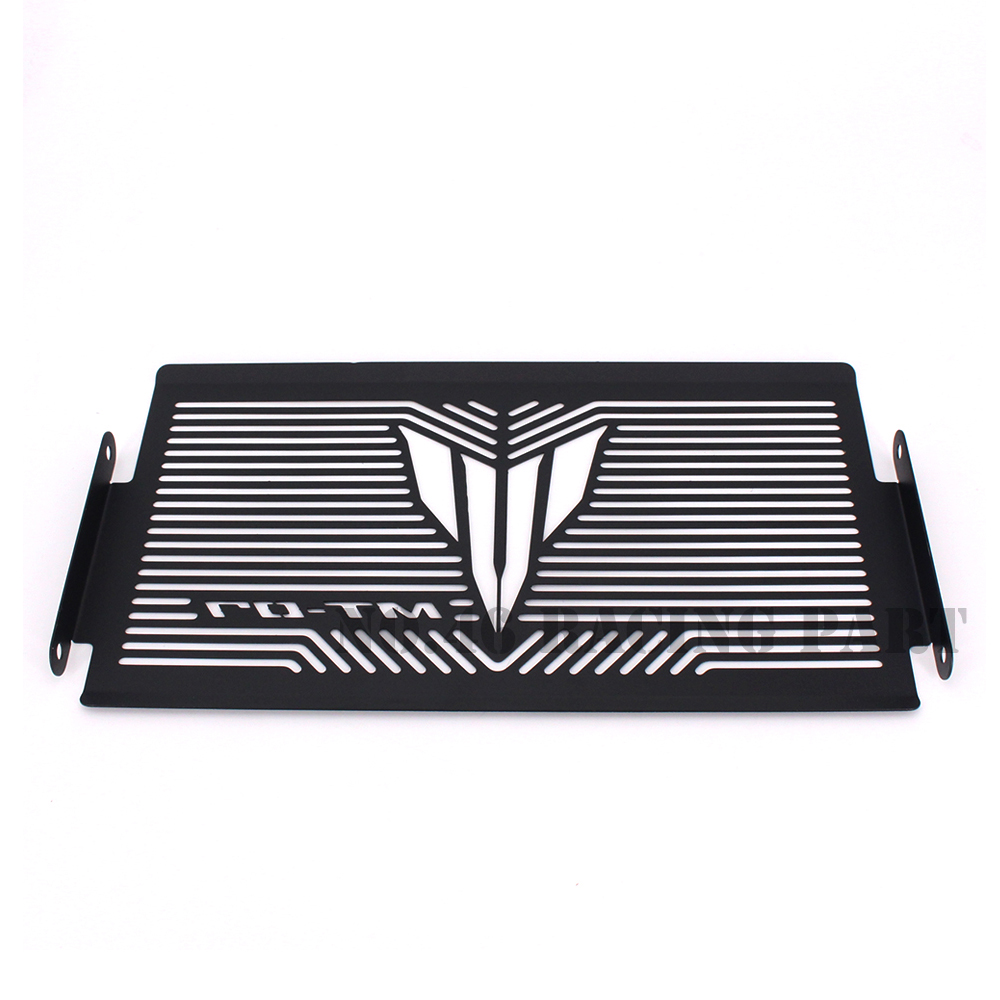 Black Motorcycle Accessories Radiator Guard Protector Grille Grill Cover For YAMAHA MT07 MT-07 mt 07 2014 2015 2016