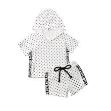 1-6Years 2019 Newborns Baby Girls Kids Cool Hooded T-shirt Pants Shorts Summer Clothes