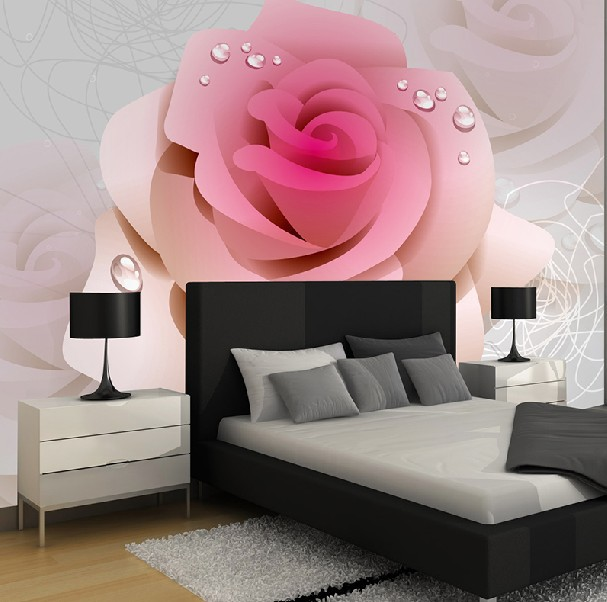 Wallpaper Creative Rose Stereo The Sitting Room Bedroom Custom Size 1 Square Of Piece In Wallpapers From Home Improvement On Aliexpress