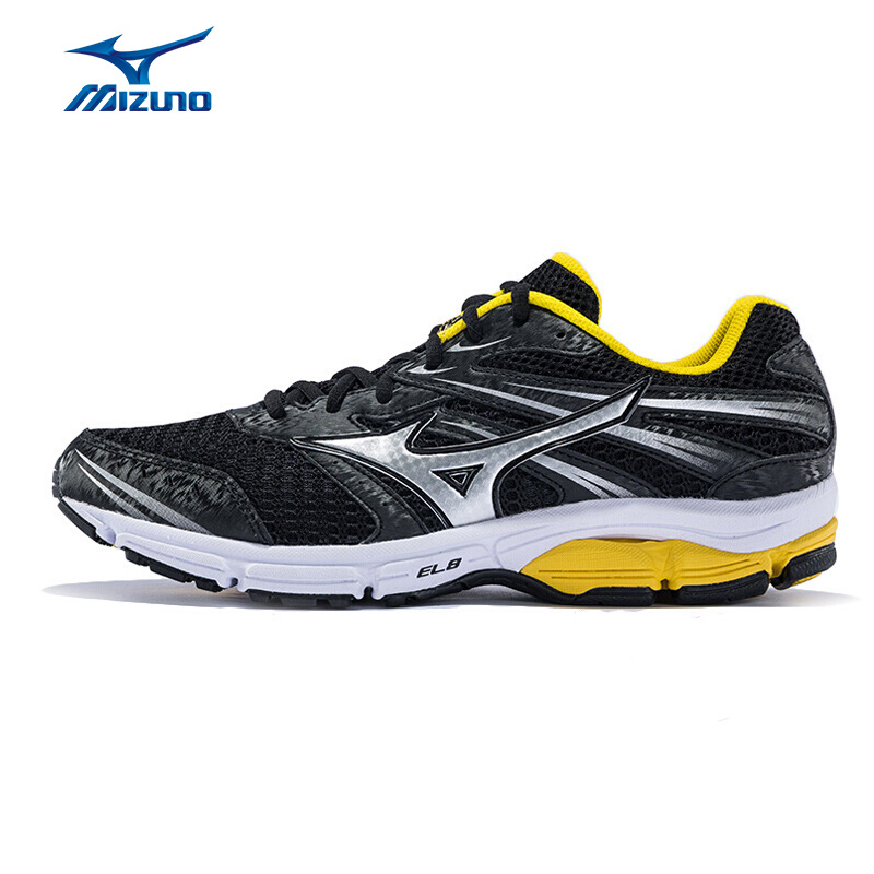 MIZUNO Men WAVE ZEST  Jogging Running Shoes Breathable Cushioning Sneakers Light Weight Sport Shoes J1GR159800 XYP300 mizuno men s sports beathable cushioning soccer shoes monarcida fs as light sport shoes sneakers p1gd152301 yxz003