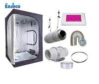 Полный комплект комнатный гроутент размер 120X120X200 см. С 120 Вт светодиодный светать и вентиляционное оборудование.