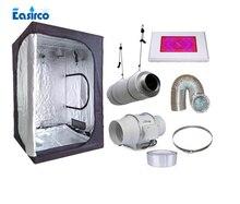 Выполните Крытый расти палатку комплекты Размеры 120x120x200 см. с 120 Вт светодиодный светать и вентиляции оборудования.